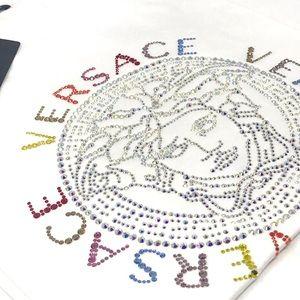Brand New Versace Studded Medusa Logo T-Shirt